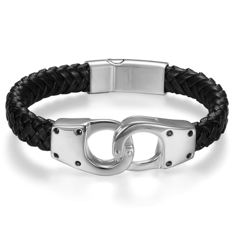 Boniskiss Stainless Steel Bracelet with Infinity Symbol for Men