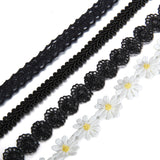 Boniskiss Choker Black Lace 4 Pcs Ribbon Gothic Collar Necklace Girls Classic