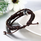 Boniskiss Infinity Bracelet Leather Wrist Wraps Braided Cuff Bangle