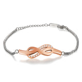 Boniskiss Stainless Steel Bracelet with Infinity Symbol for Couples