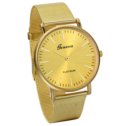 Boniskiss Fathers Day Present Men's Business Casual Ultra Thin Stainless Steel Mesh Band Japanese Quartz Dress Wrist Watch