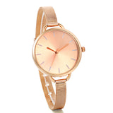 Boniskiss Womens Classics Analog Quartz Stainless Steel Mesh Band Bracelet Dress Watch Rose Gold