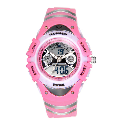 Boniskiss Girl Watch 30M Waterproof 12/24 Hour Dual Time Zone Digital Electronic Sport Watch with LED Light Alarm Stopwatch Date and Day