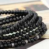 Boniskiss 6mm Wood Beads Buddhist Bracelet Tibetan Buddha Religious with Cross