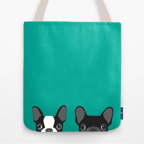 Twin Bulldog Tote Bag - Edmotic