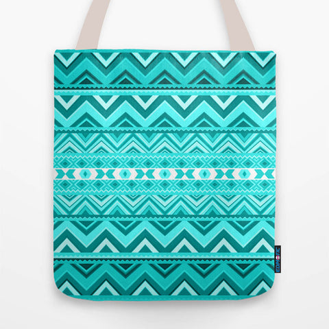 Mint Aztec Tote Bag - Edmotic