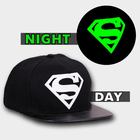 SUPERMAN GLOW IN DARK SNAPBACK - Edmotic