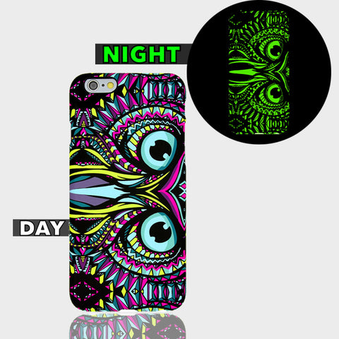 AZTEC OWL GLOW IN DARK CASE  Iphone 6 Plus Case - Edmotic - 1