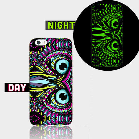 AZTEC OWL GLOW IN DARK CASE I Phone SE Case - Edmotic