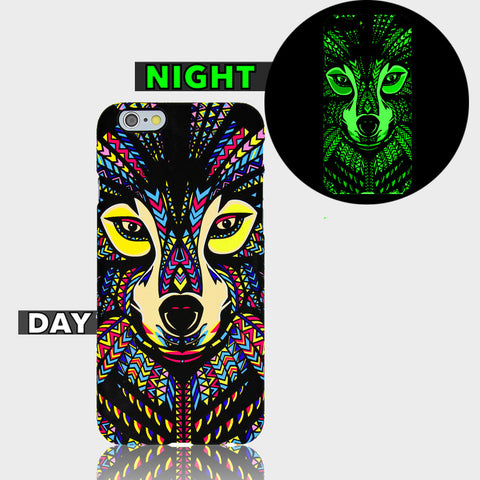 AZTEC FOX GLOW IN DARK CASE  Iphone 6 Plus Case - Edmotic - 1