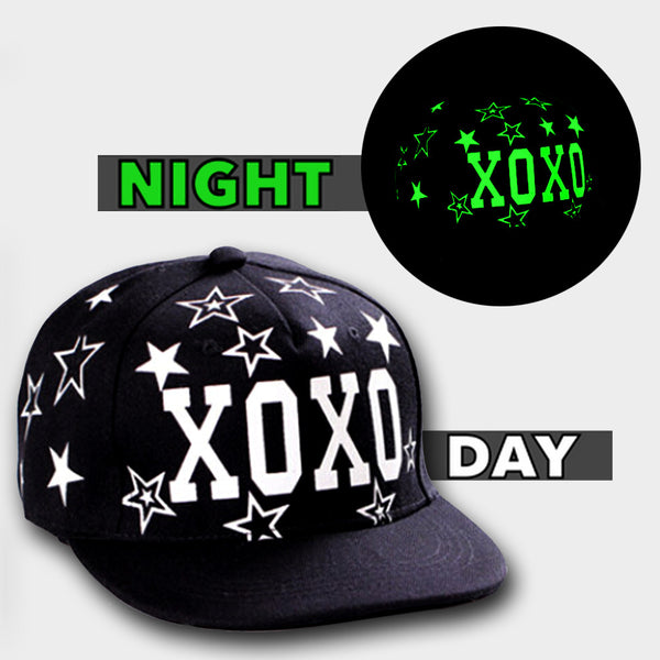 HUGS N KISSES GLOW IN DARK SNAPBACK