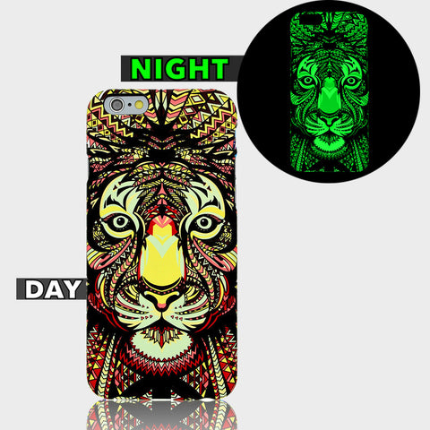 AZTEC TIGER GLOW IN DARK CASE  Iphone 6 Plus Case - Edmotic - 1