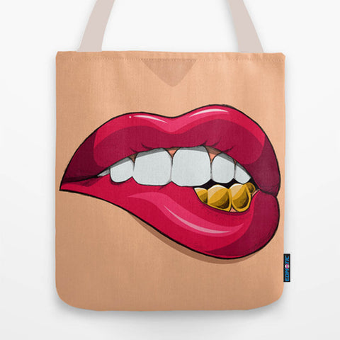 Gold teeth Tote Bag - Edmotic