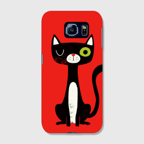 Green Eye Cat SAMSUNG GALAXY s7 CASE - Edmotic