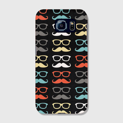 Colorful Moustache  SAMSUNG GALAXY S6 EDGE CASE - Edmotic