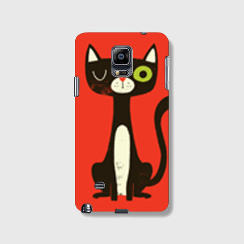Green Eye Cat SAMSUNG GALAXY NOTE 4 CASE - Edmotic