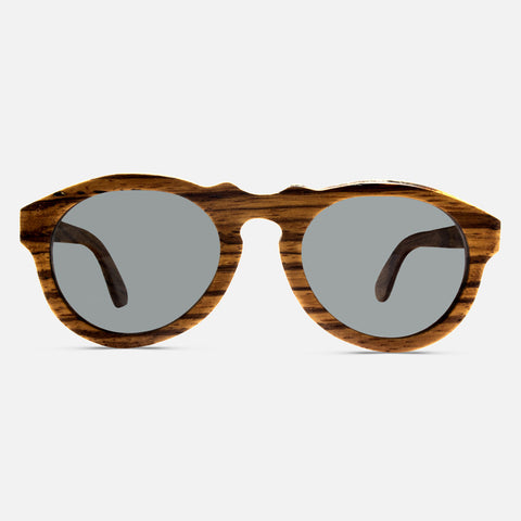 Zebra Wood Sunglasses - Edmotic - 1