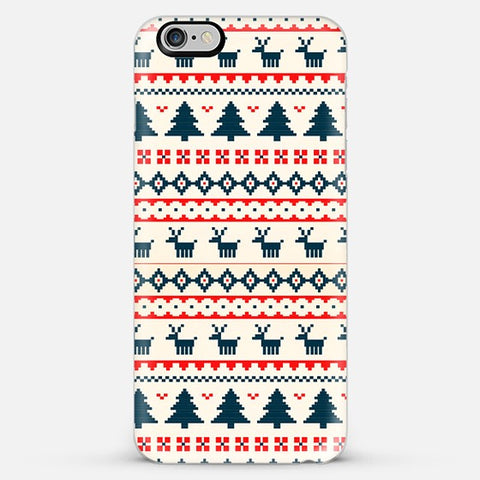 Christmas Snow Aztec Iphone 6s Plus Case - Edmotic