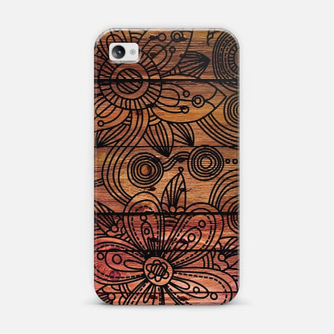 Art Wood iPhone 4/4s Case - Edmotic