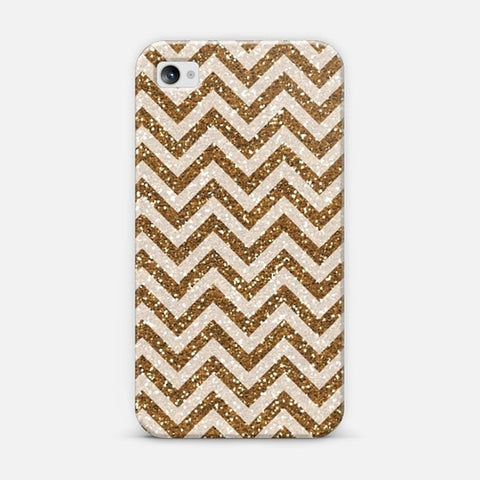 Sparkling Brown Glitter Chevron iPhone 4/4s Case - Edmotic