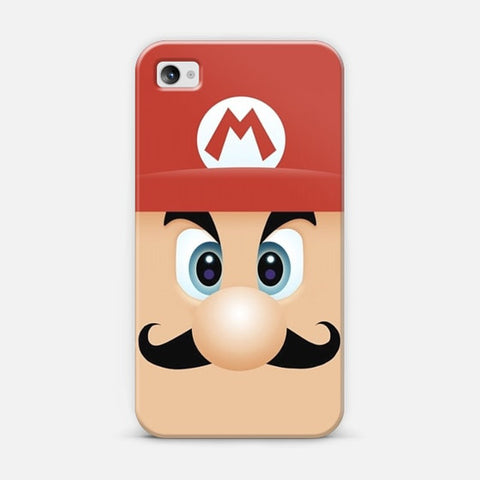 Mario With Cool Mustache iPhone 4/4s Case - Edmotic