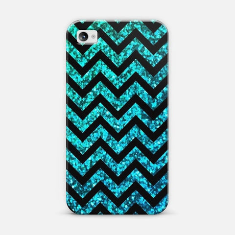 Chevron Aqua Sparkle iPhone 4/4s Case - Edmotic