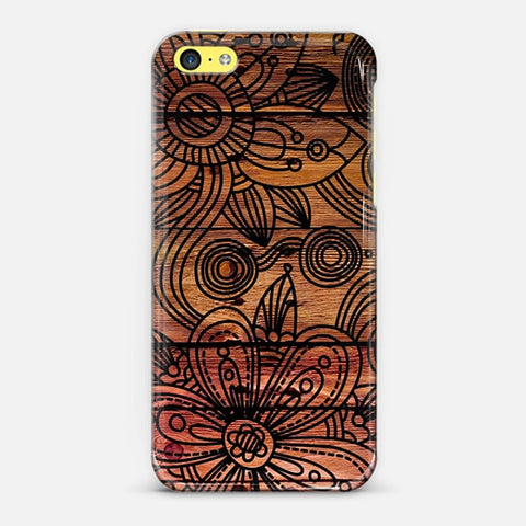 Art Wood iPhone 5c Case - Edmotic