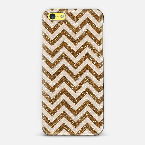 Sparkling Brown Glitter Chevron iPhone 5c Case - Edmotic