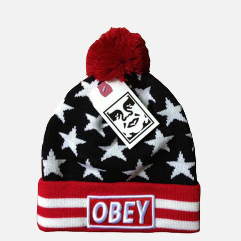 OBEY STARS BEANIE - Edmotic