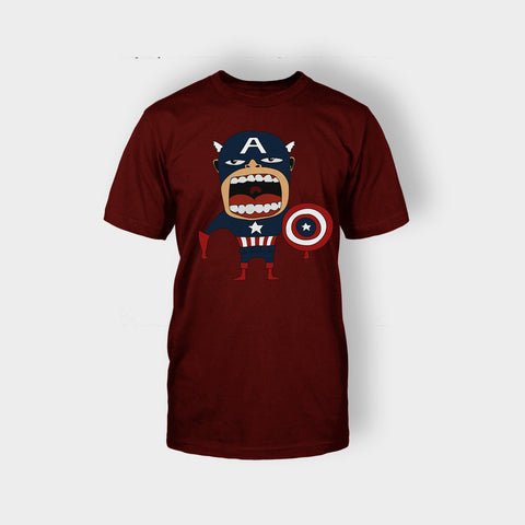 ANGRY CAPTAIN AMERICA T-SHIRT - Edmotic
