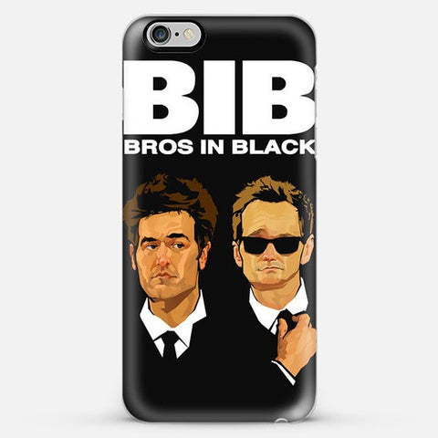 Bros in Black   Iphone 6 Plus Case - Edmotic