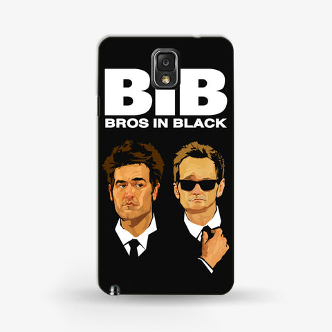Bros in Black Samsung Galaxy Note 3 CASE - Edmotic