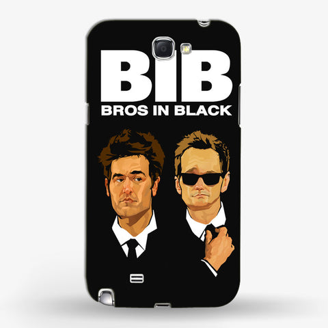 Bros in Black   Samsung Galaxy Note 2 CASE - Edmotic
