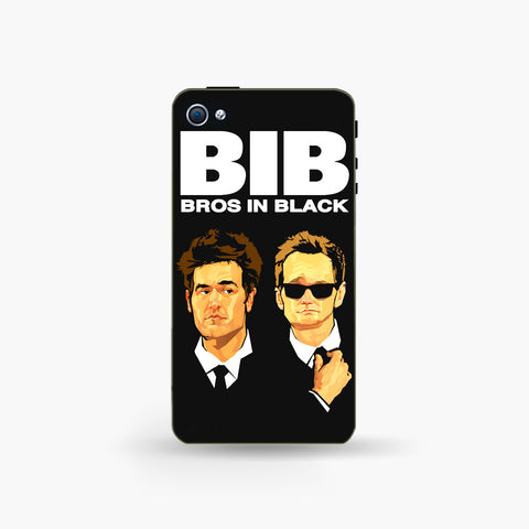 Bros in Black   Iphone 4/4s Case - Edmotic