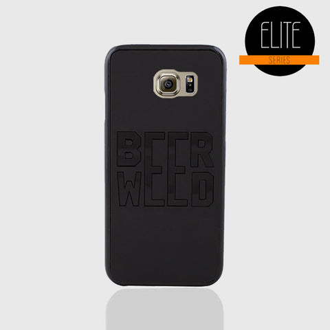 BEER WEED BLACK MATTE PHONE CASE FOR SAMSUNG S6 - Edmotic