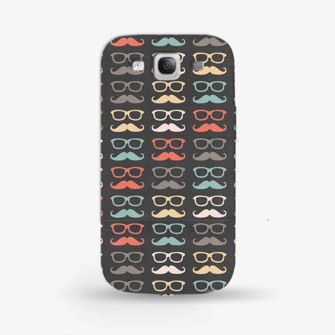 Colorful Moustache  Samsung Galaxy S3 CASE - Edmotic