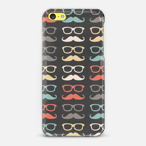 Colorful Moustache  Iphone 5c Case - Edmotic