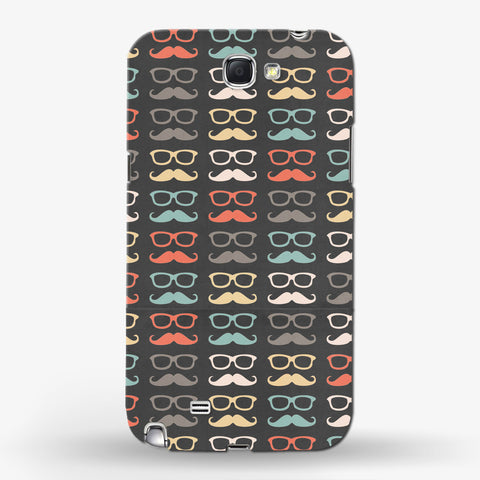 Colorful Moustache  Samsung Galaxy Note 2 CASE - Edmotic