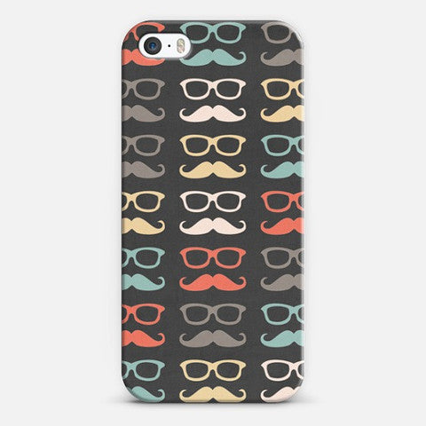 Colorful Moustache (iPhone SE) Case - Edmotic