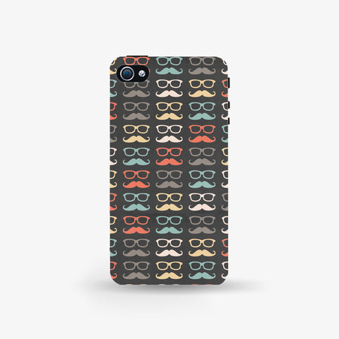 Colorful Moustache   Iphone 4/4s Case - Edmotic