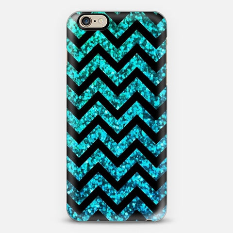 Chevron Aqua Sparkle iPhone 6 Plus Case - Edmotic