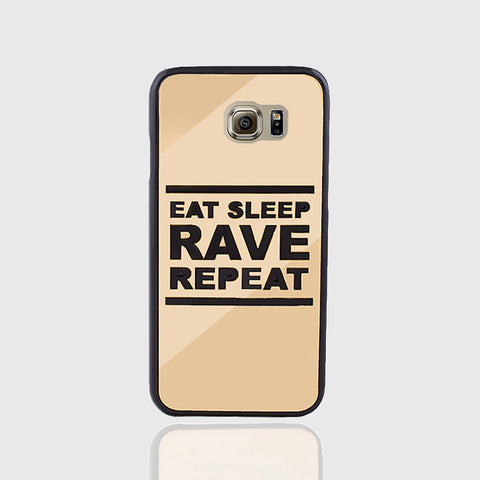 EAT SLEEP GOLD PHONE CASE FOR SAMSUNG S6 EDGE - Edmotic