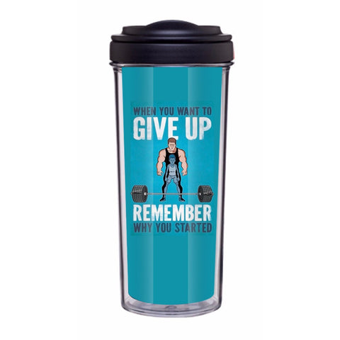 Don't Give Up Tumbler - Edmotic