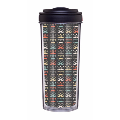 Colorful Moustache Tumbler - Edmotic