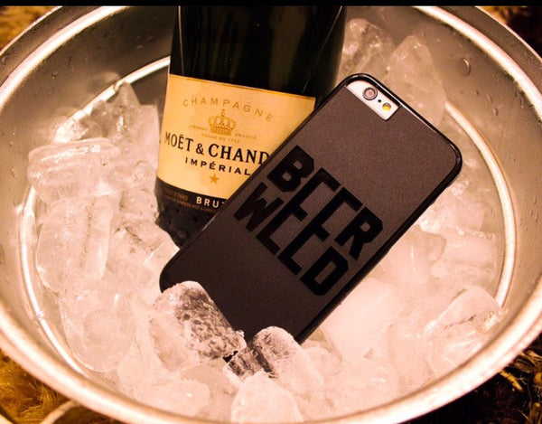 Beer Weed Matte Finish Phone case (I Phone 6/6S)