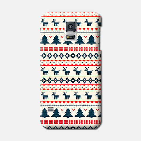 Christmas Snow Aztec Samsung Galaxy S5 CASE - Edmotic