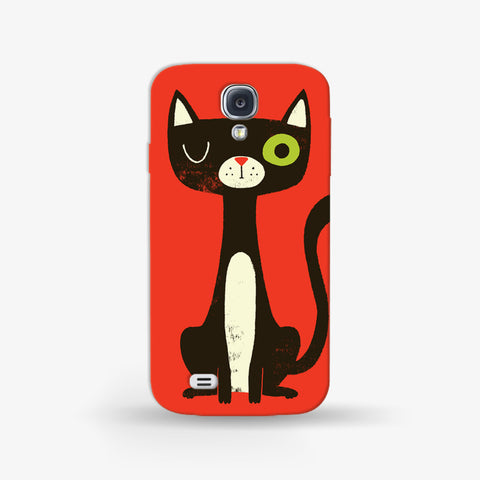 Green Eye Cat Samsung Galaxy S4 Mini CASE - Edmotic