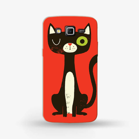Green Eye Cat Samsung Galaxy Grand 2 Case - Edmotic