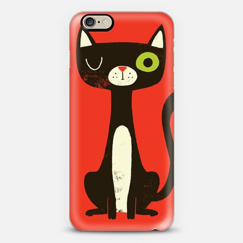 Green Eye Cat iPhone 7 Case - Edmotic