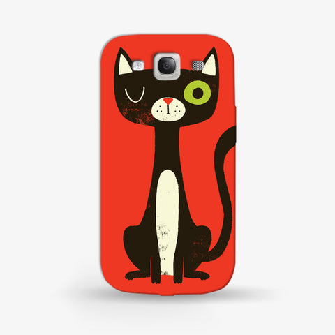 Green Eye Cat Samsung Galaxy S3 CASE - Edmotic